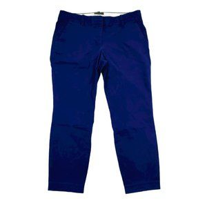 J Crew Chino Pants Women's 6 33x26 Blue Cafe Capri